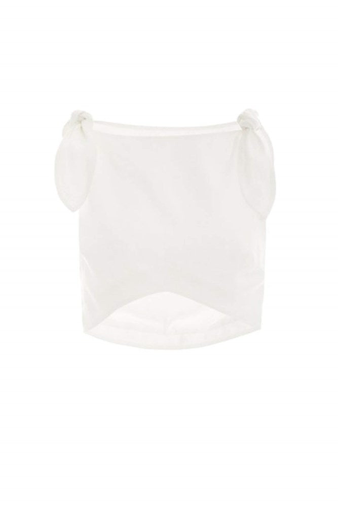 Sir Ambroise Knot Crop in White from The New Trend