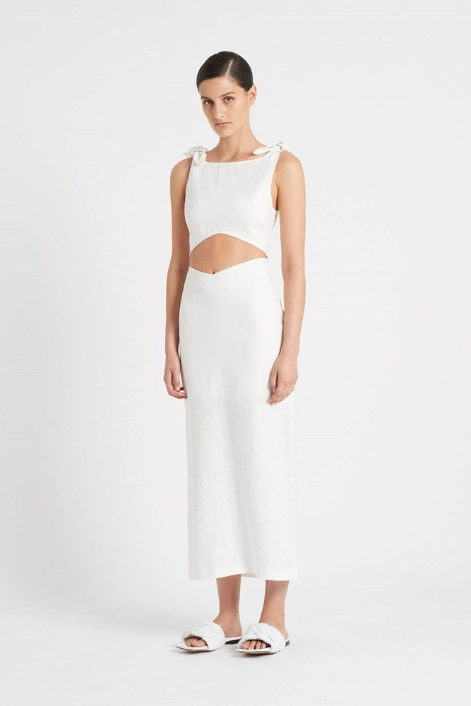 Sir Ambroise Midi Skirt in White from The New Trend