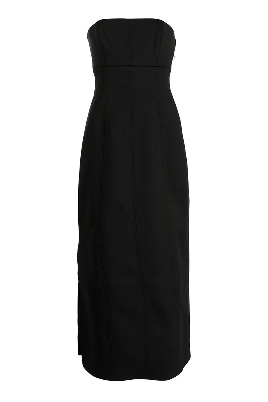Sir The Label Andre Strapless Midi Dress in Black from The New Trend