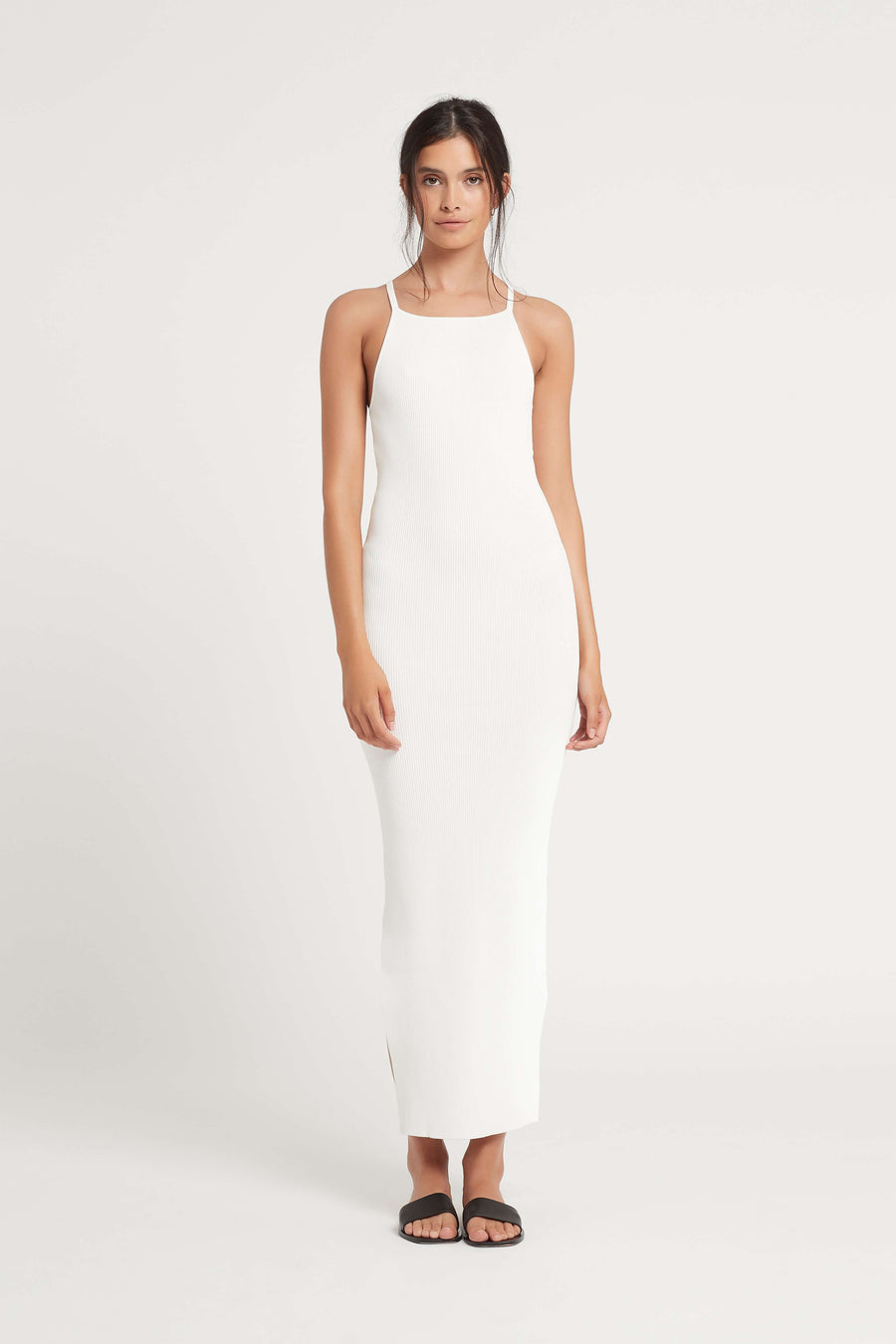 Sir Ingrid Midi Dress in Ivory from The New Trend