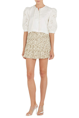 Sir The Label Alba Mini Skirt in Alba Leaf Print from The New Trend