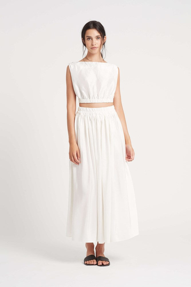 Sir Valetta Maxi Skirt in Ivory from The New Trend
