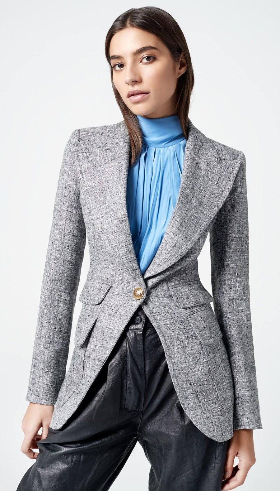 Smythe Birkin Blazer in Peppersalt from The New Trend