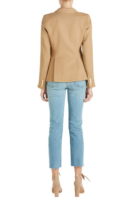 Smythe Classic Duchess Blazer Camel from The New Trend Back View