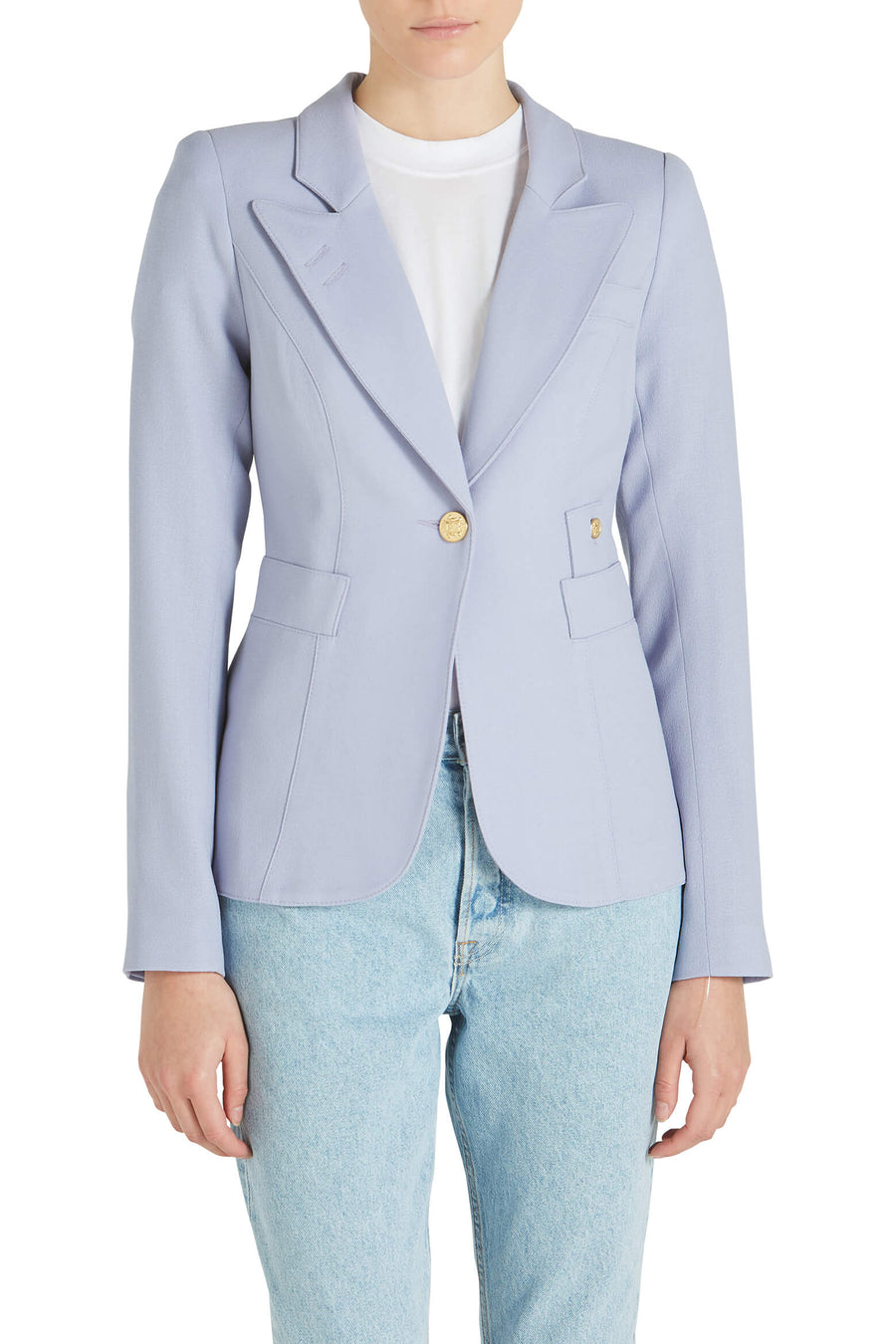 Smythe Duchess Blazer in Lavender from The New Trend