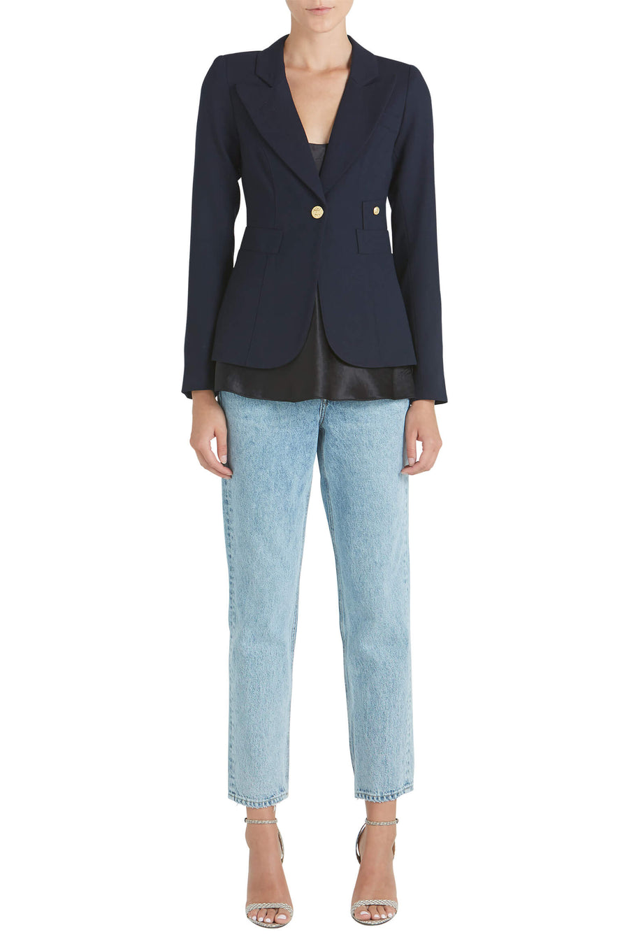 Smythe Classic Duchess Blazer in Navy from The New Trend