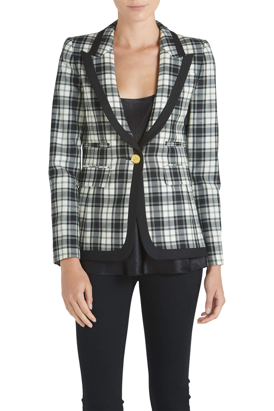 Smythe Taped Peaked Lapel Blazer from The New Trend