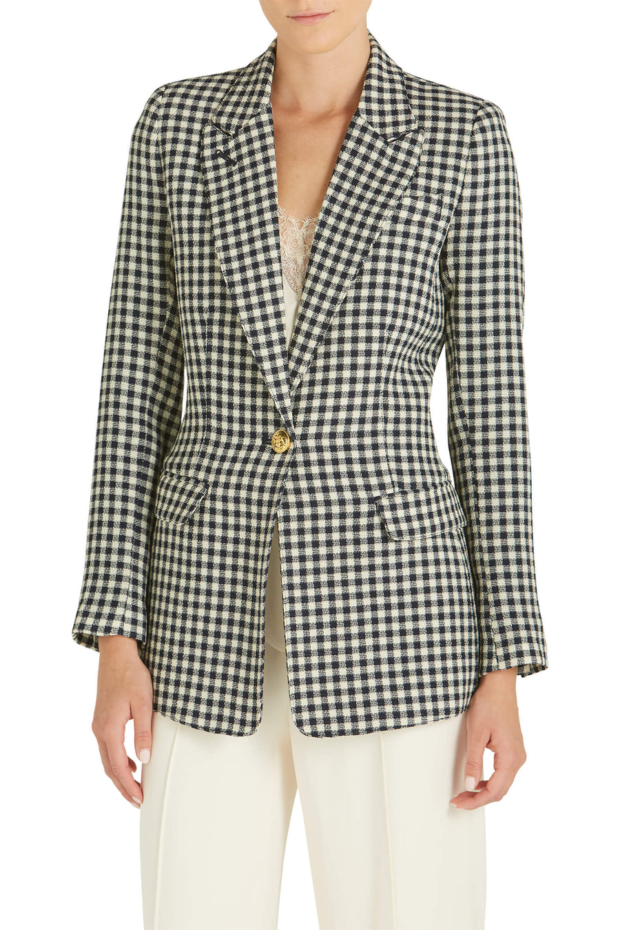 Smythe Tailored Blazer Navy Check from The New Trend