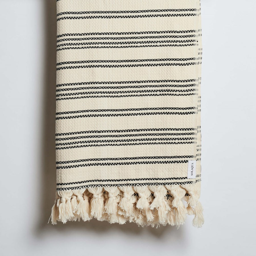 Solaqua Spritz Beach Blanket in Black and Beige from The New Trend