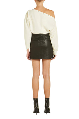 Helmut Lang Stretch Leather Mini Skirt from The New Trend Back