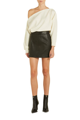 Helmut Lang Stretch Leather Mini Skirt from The New Trend Front