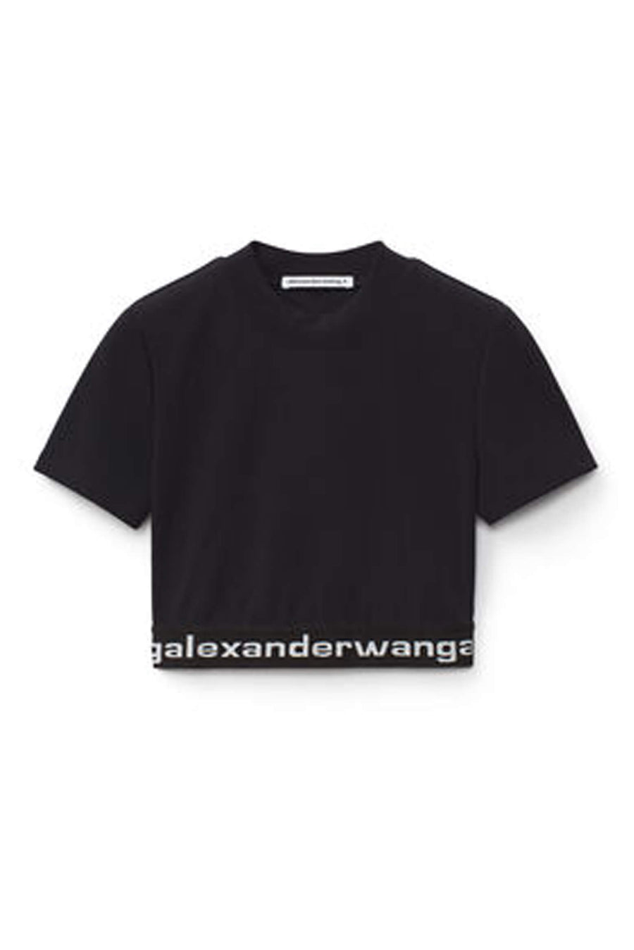T by Alexander Wang Baby Tee with Logo Elastic from The New Trend