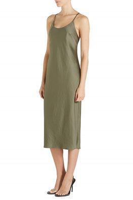 T By Alexander Wang Light Wash & Go Open Back Dress from The New Trend