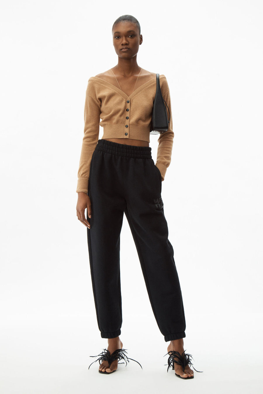 T By Alexander Wang  Foundation Terry Classic Sweatpants in black from The New Trend