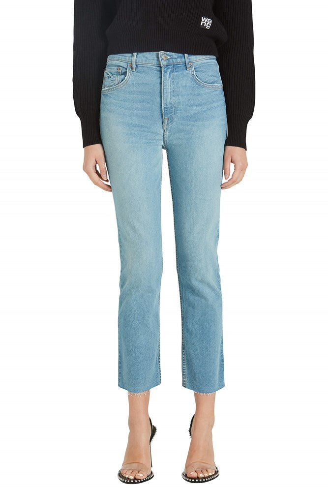 GRLFRND Reed High Rise Slim Crop Cigarette denim from The New Trend