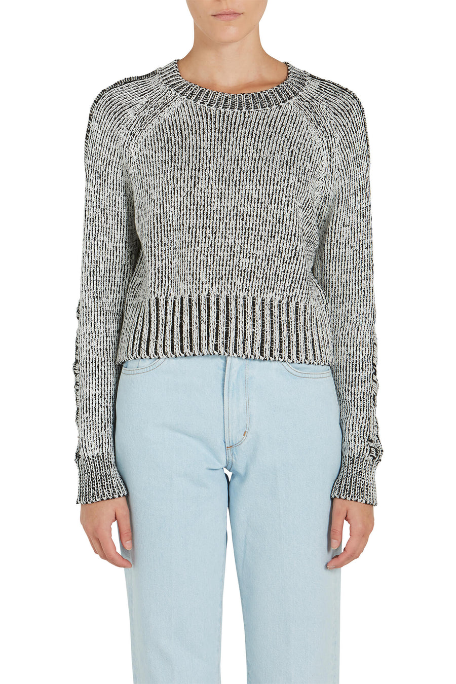The Range Storm Knit Plated Crew Sweater