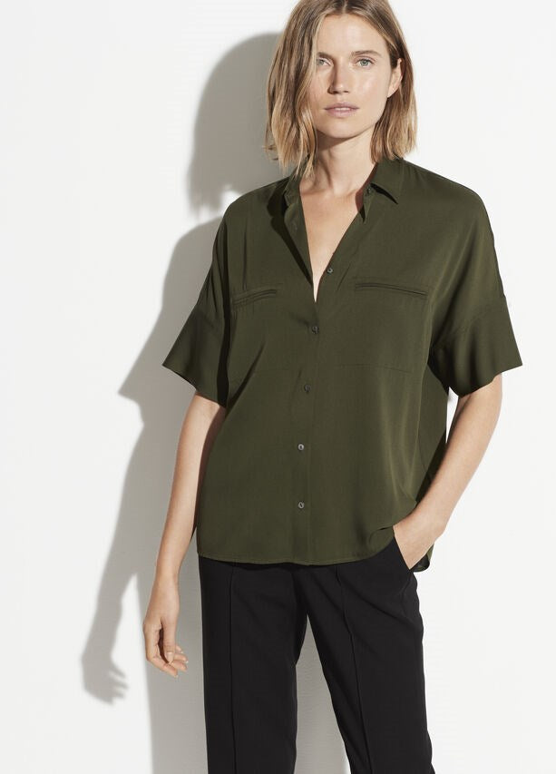 VINCE. S/S Blouse Pine from The New Trend