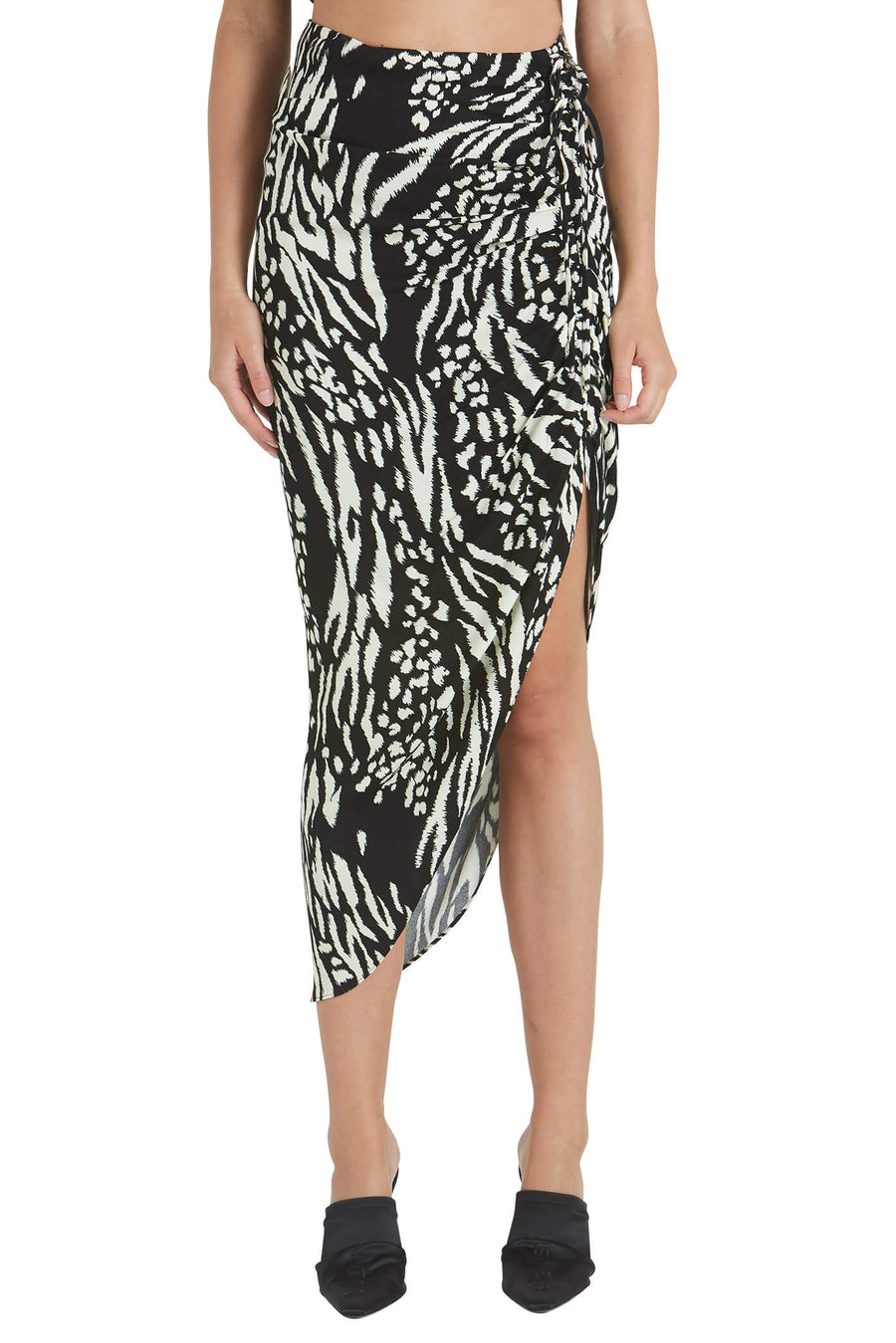 Veronica Beard Ari Midi Skirt in Black and Ivory from The New Trend