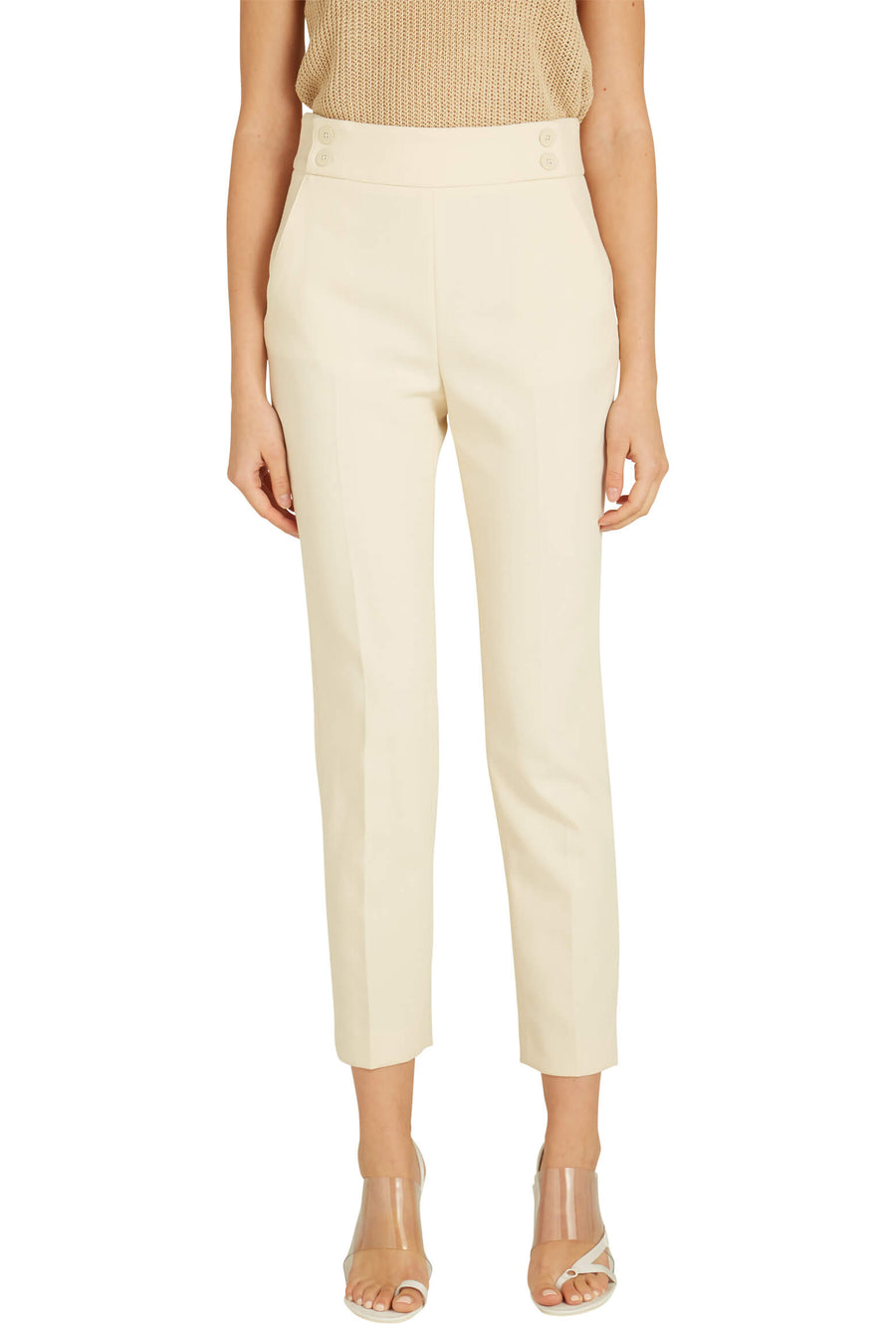 Veronica Beard's Colvin Pants in Ivory from The New Trend