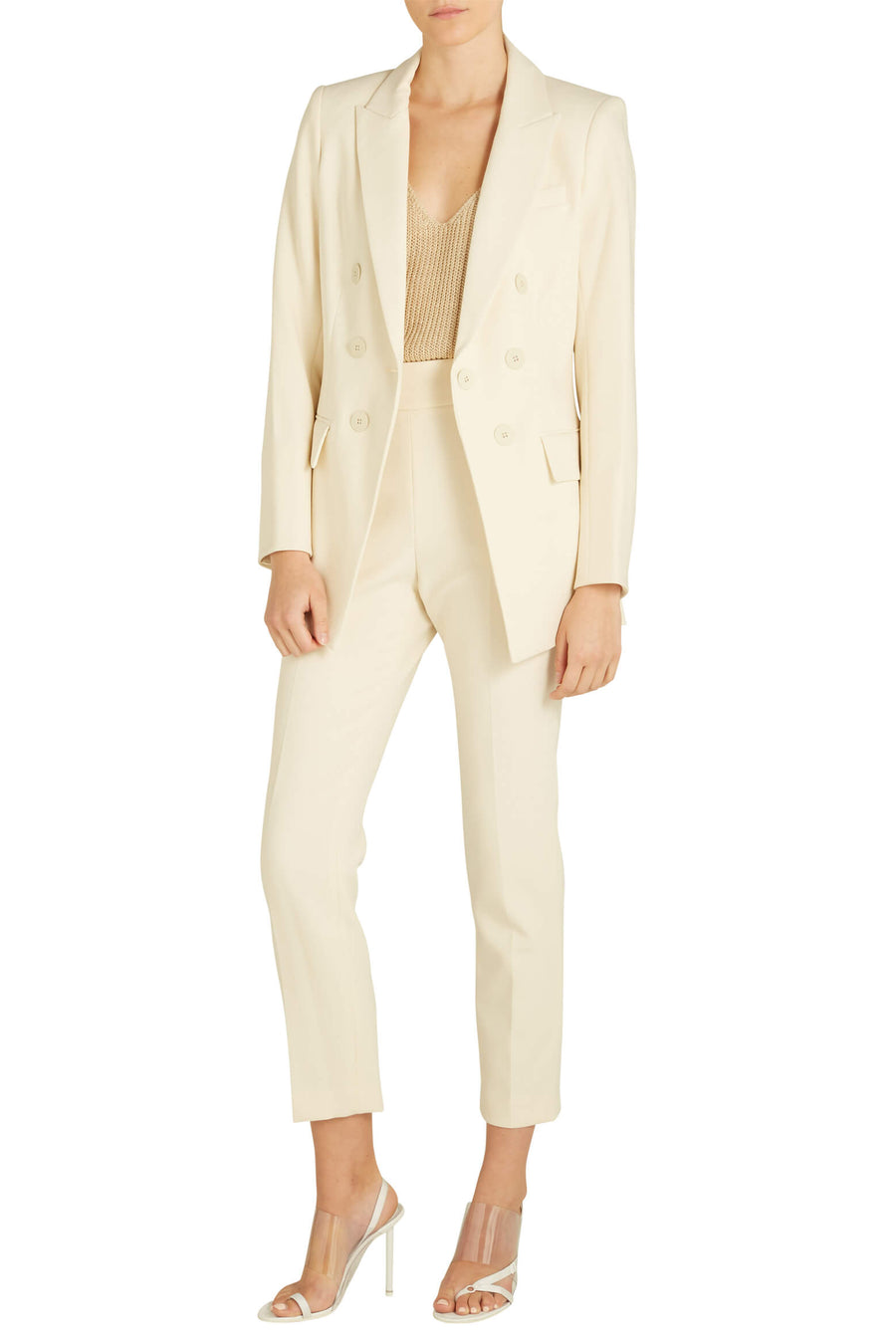 Veronica Beard Matteo Dickey Blazer in Ivory from The New Trend