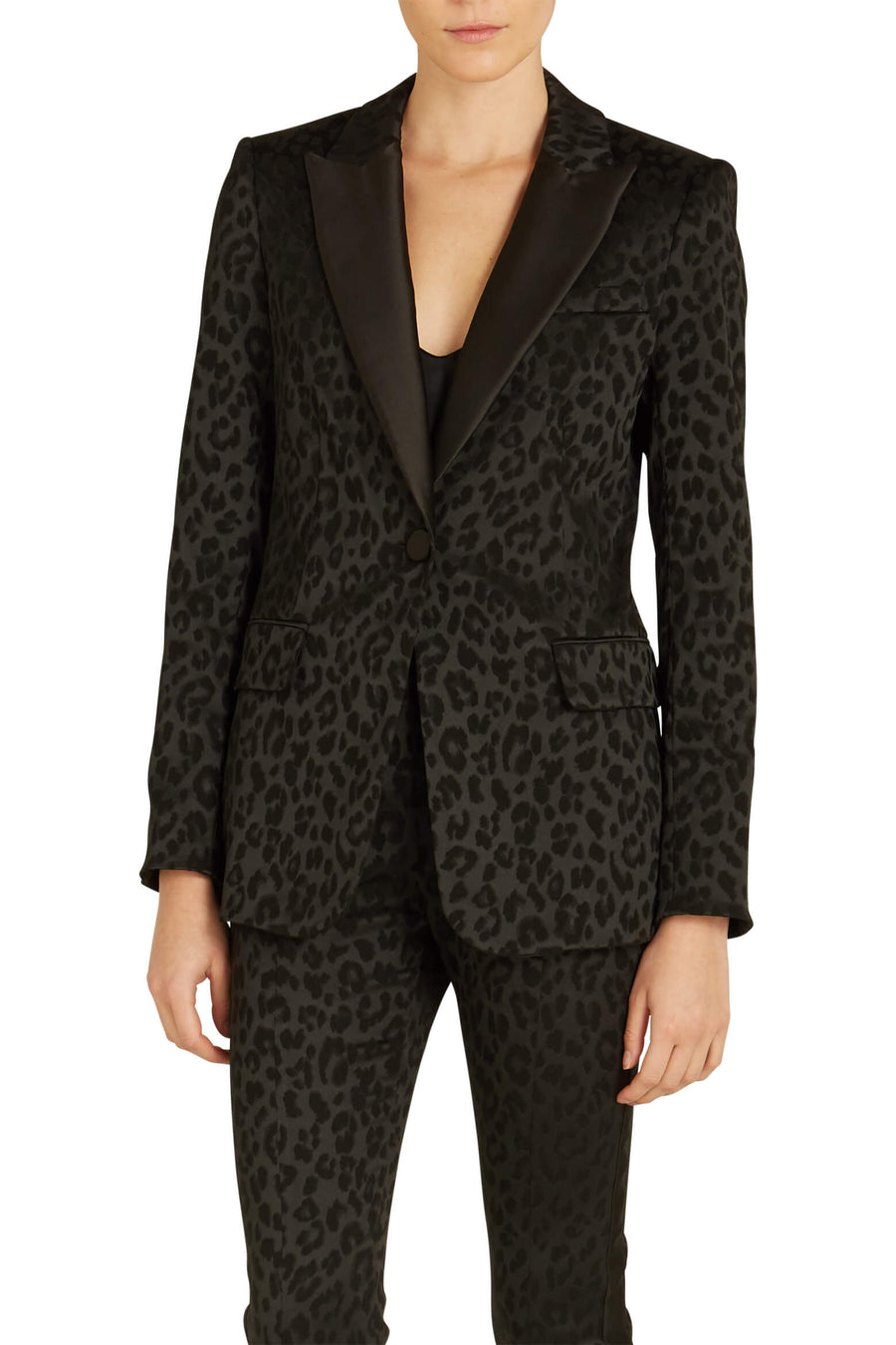 Veronica Beard Ashburn Dickey Jacket in black leopard from The New Trend