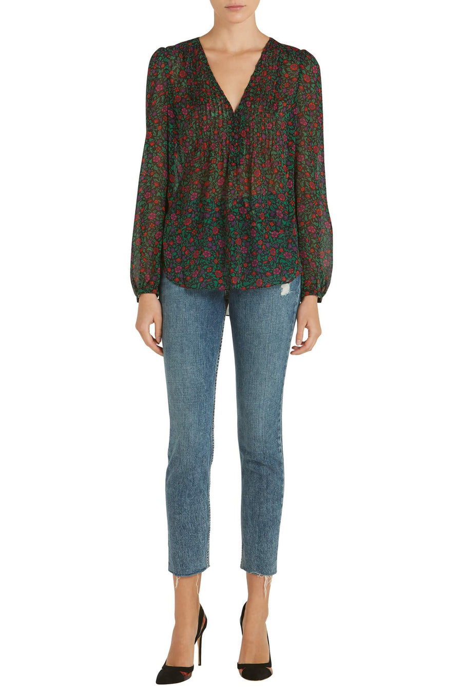 Veronica Beard Lowell Silk Blouse from The New Trend