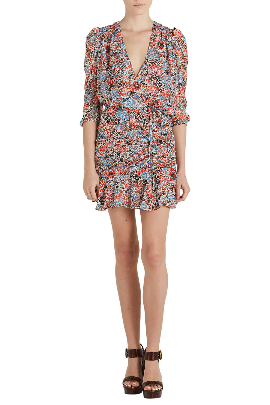 Veronica Beard Maggie Dress in Poppy Multi from The New Trend