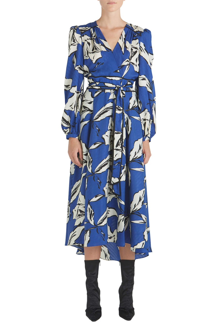 Veronica Beard Mclean Dress in Ultramarine Multi from The New Trend