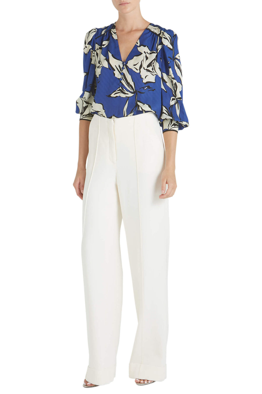 Veronica Beard Milan Long Sleeve Floral Top from The New Trend