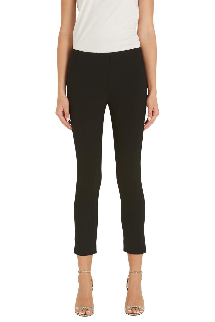 Veronica Beard Zip Back Scuba Pant in Black from The New Trend
