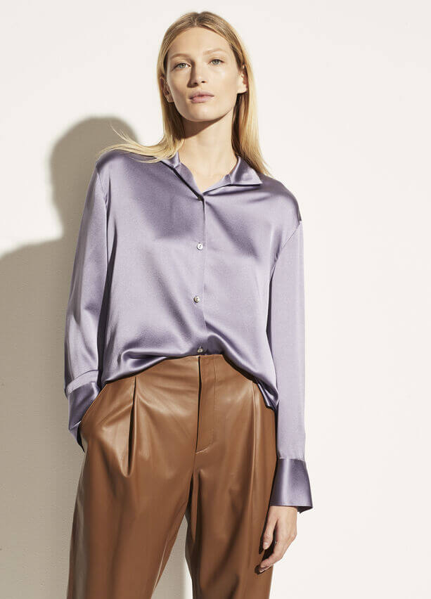 VINCE. Collar Stand Blouse from The New Trend