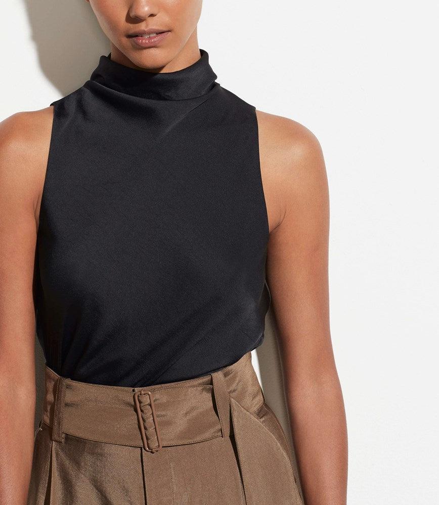 Vince Draped Turtleneck Bodysuit in Black from The New Trend