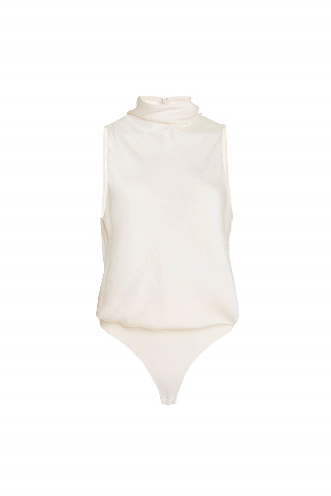 Vince Draped Turtleneck Bodysuit in Chiffon from The New Trend