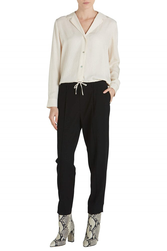Vince Drawstring Lapel Shirt in Fennel from The New Trend