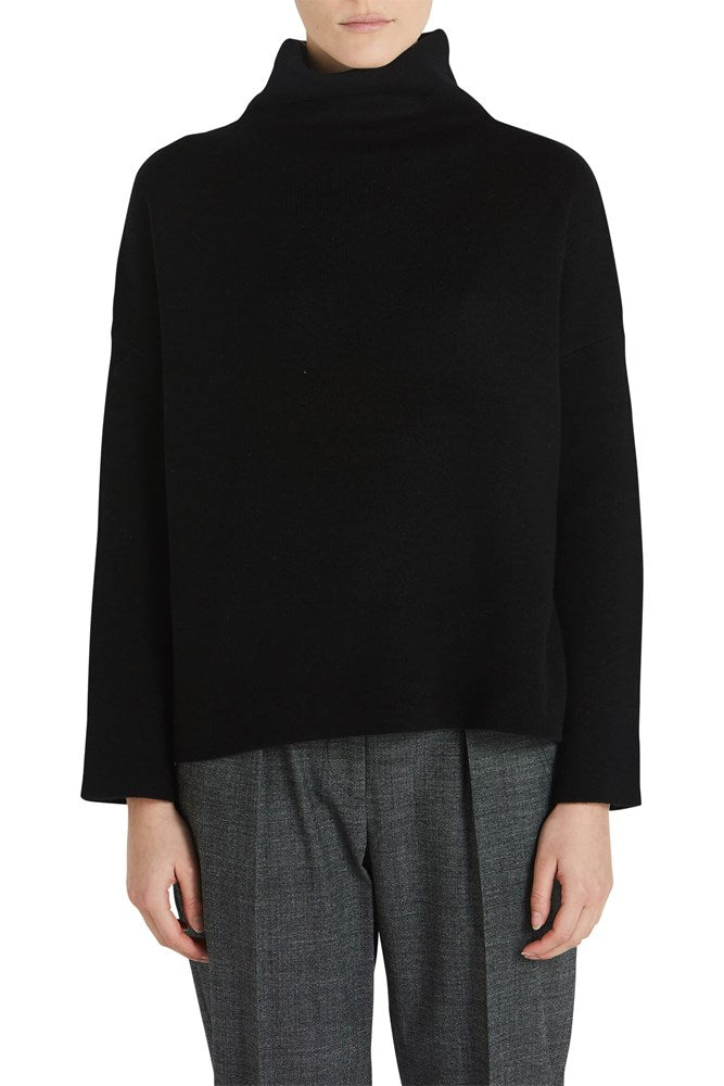 Vince Funnel Neck Pullover in Black from The New Trend