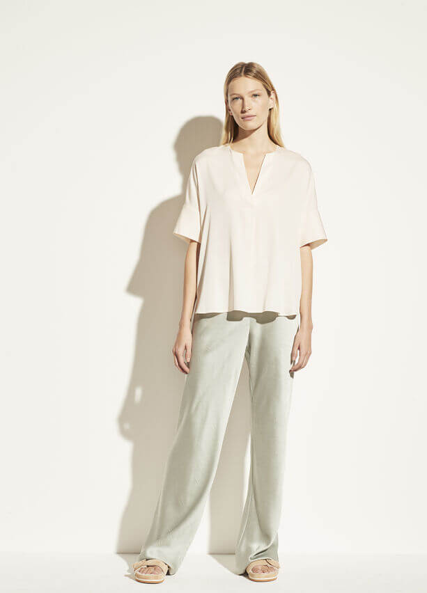 VINCE. Half Placket Popover from The New Trend