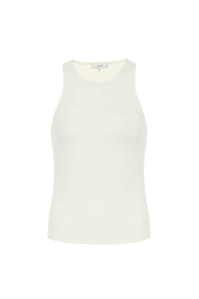 VINCE High Neck Tank in Natural from The New Trend
