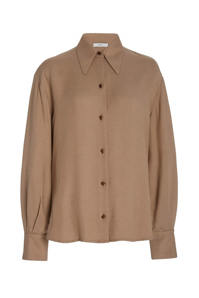 Vince-Long-Womens-Sleeve-Button-Down-Shirt-with-Collar-The-New-Trend