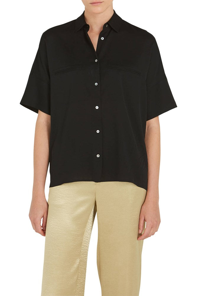VINCE. S/S Blouse Black from The New Trend