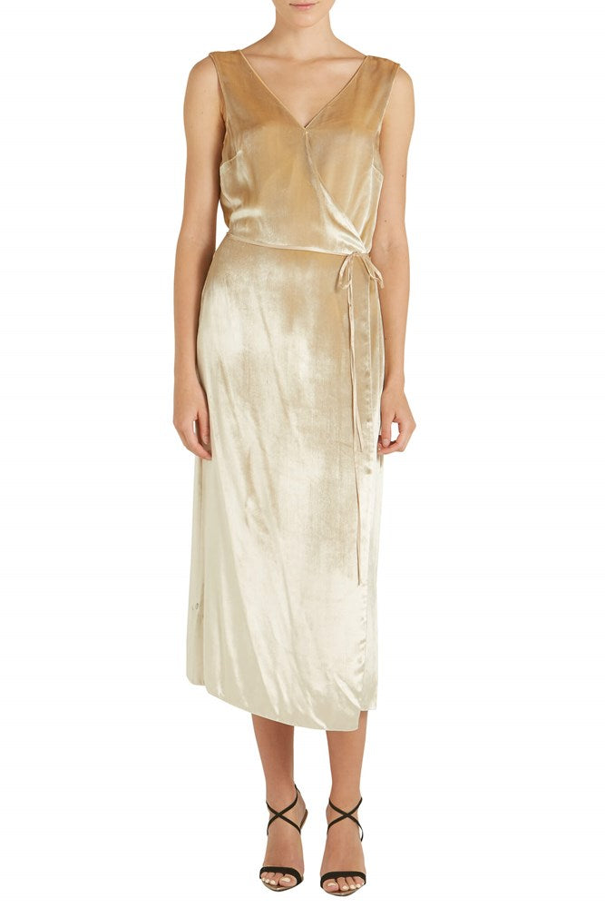 Panna Wrap Dress by Vince. from The New Trend