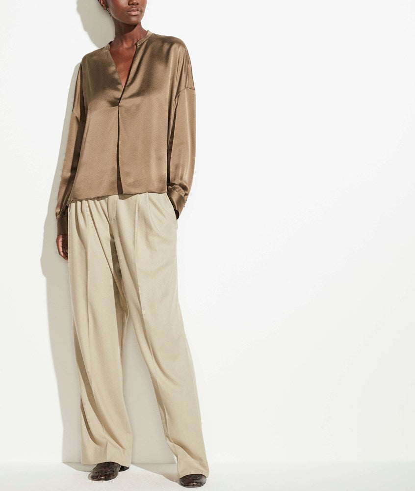 Vince Pleat Front Blouse in Cedar from The New Trend