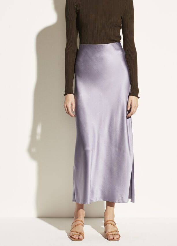 VINCE. Side Slit Slip Skirt from The New Trend