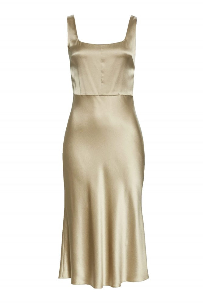 Vince Slim Fitted Slip Dress in Sepia from The New Trend
