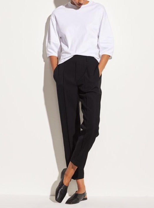 VINCE. Tapered Pull On Pant in Black from The New Trend