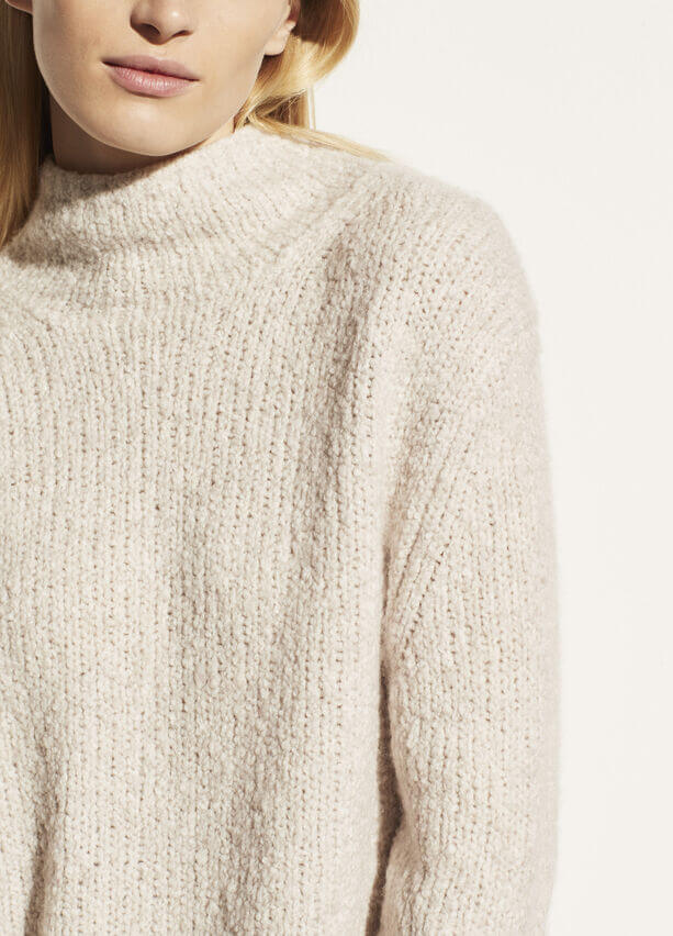 VINCE. Textured Funnel Neck Pullover from The New Trend