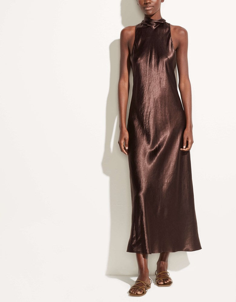 Vince Turtleneck Dress in Brown Stone from The New Trend