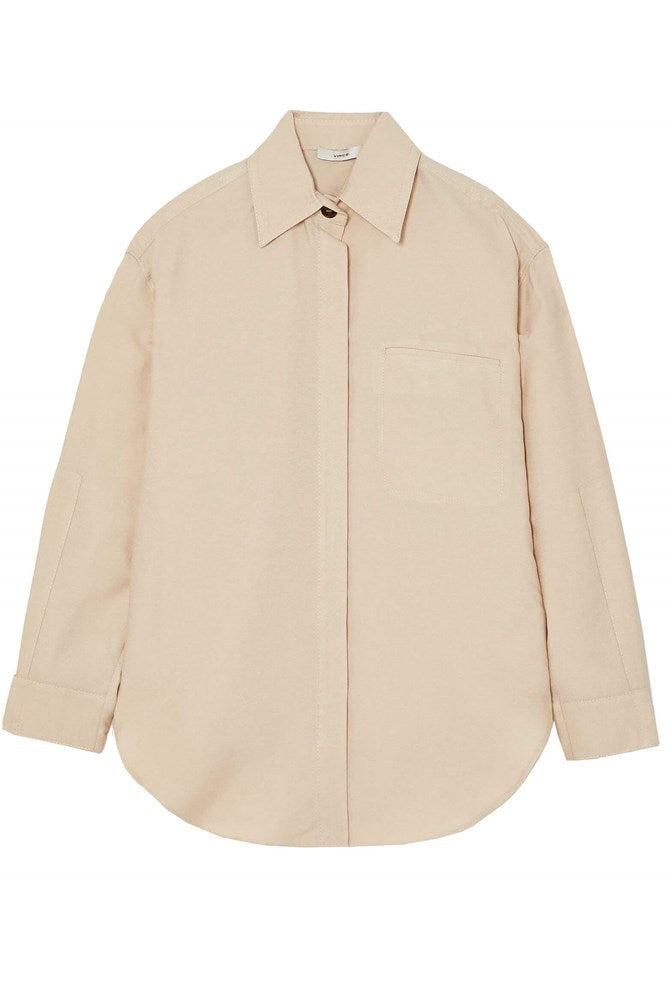 Vince Utility Shirt Jacket in Alabaster from The New Trend