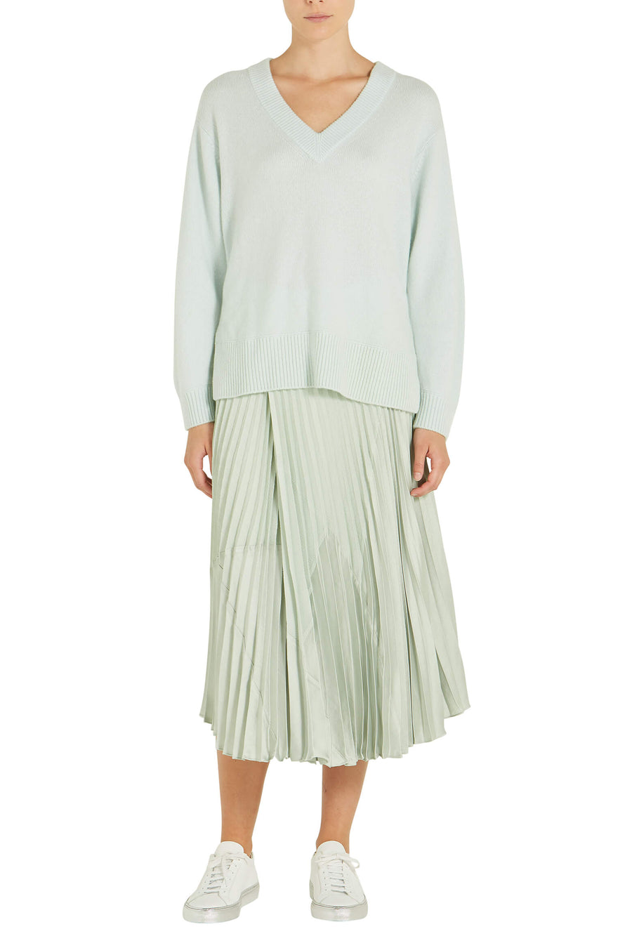 Vince V Neck Tunic in Aloe from The New Trend