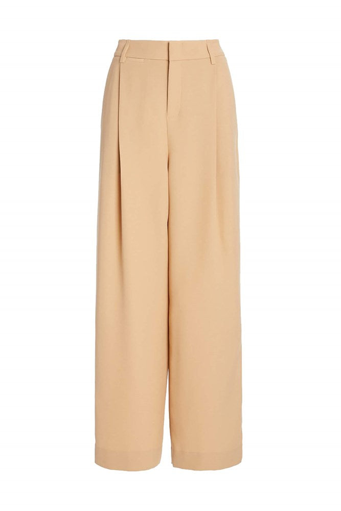 VINCE Wide Leg Trouser in Sand Dollar from The New Trend