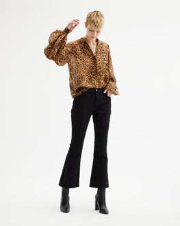 Nili Lotan Evelyn Blouse in Ginger Leopard from The New Trend Front